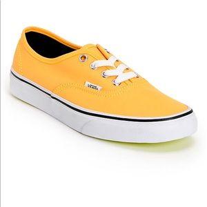 Neon orange Vans sneakers